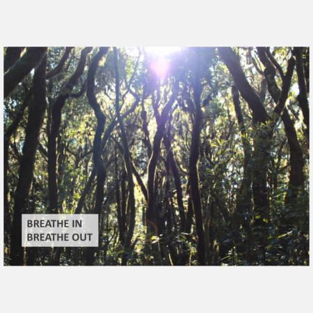 Postkarte: Breathe in - Breathe out