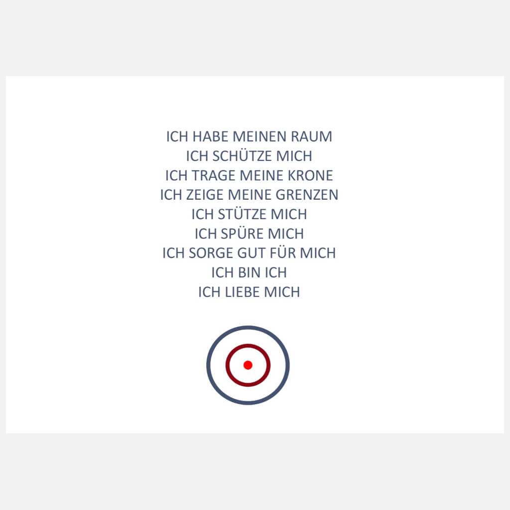 Postkarte: Grenzen Qi Gong Übungen - Elfriede Dinkel-Pfrommer